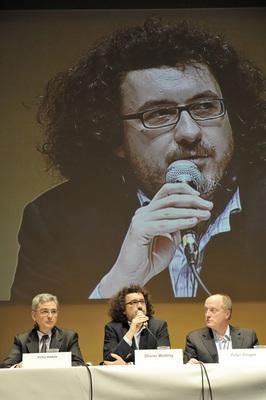 Les 7es Rendez-vous franco-allemands du cinéma - Victor Hadida, Olivier Wotling, Peter Dinges - © Benoît Linder / French Co.