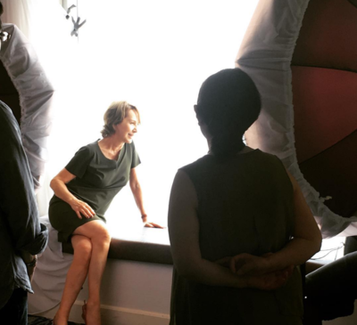 June 22: Day 2 of the Festival - Nathalie Baye en shooting photo pour la presse