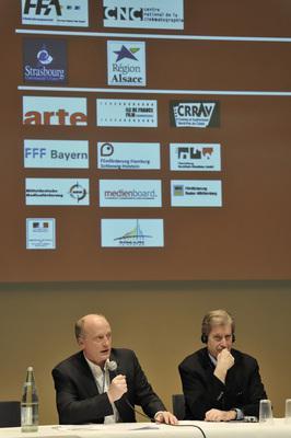 7th Franco-German Film Meetings - Peter Dinges, Antoine de Clermont-Tonnerre - © Benoît Linder / French Co.