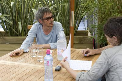 L'Activité du club Unifrance en images 1e partie - Leos Carax en interview - © Laurent Koffel @ Visual