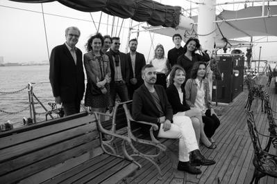 22 de junio, 2° día del Festival - A bord de l'Ocean Princess, une partie de la délégation artistique