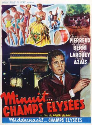 Minuit... Champs-Élysées - Poster Belgique
