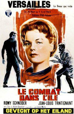 Le Combat dans l'île / Fire and Ice - Poster Belgique