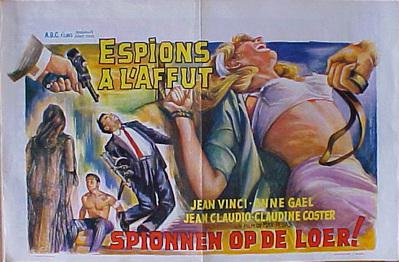 Espions à l'affût - Poster Belgique