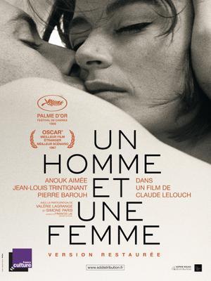 Un homme et une femme - Affiche ressortie France 2016