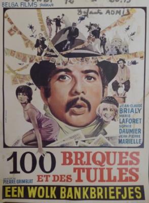 Cent briques et des tuiles - Poster Belgique