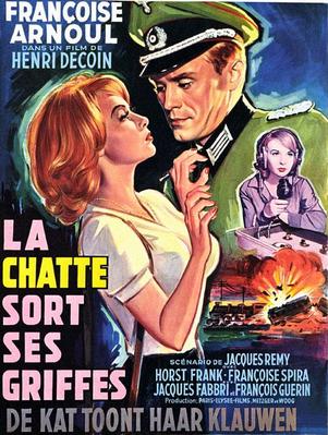 La Chatte sort ses griffes - Poster Belgique