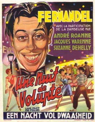 Une nuit de folies - Poster Belgique