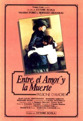 Entre el amor y la muerte - Poster Espagne