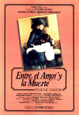 Passion of Love - Poster Espagne