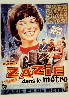 Zazie en el metro - Poster Belgique