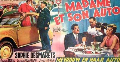 Madame et son auto - Poster Belgique