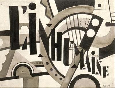 L'Inhumaine - Projet d'affiche créée par Fernand Léger