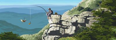 Pêche en l'air