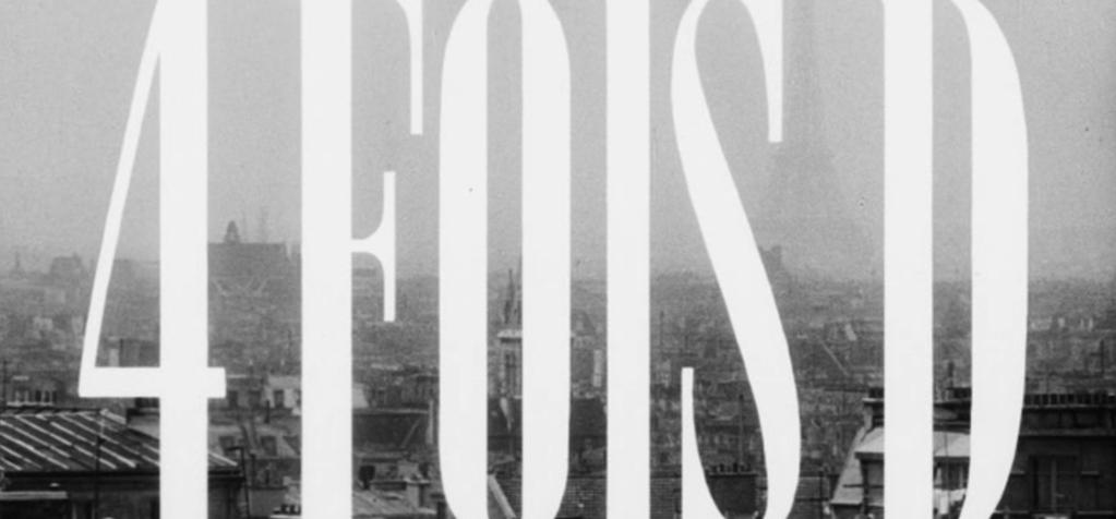 1st minute of 4 fois D, the long-lost short film by Philippe Labro