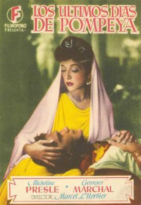 Les Derniers Jours de Pompei - Poster Espagne