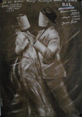 La Sala de baile (El baile) - Poster Pologne