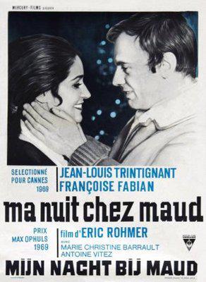 Ma nuit chez Maud - Poster Belgique