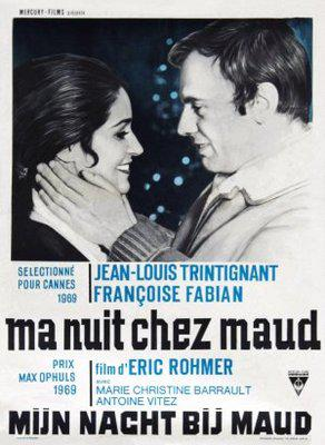 My Night at Maud's - Poster Belgique