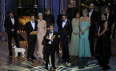 The Artist victorious at the 2012 Oscars!