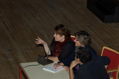 Las masterclasses organizadas por Unifrance en pleno auge - Agnès Jaoui à Lisbonne - © Unifrance.org