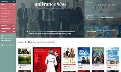 El sitio Unifrance.org se remoza - Nouvelle Homepage - www.unifrance.org