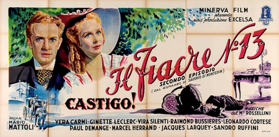 Le Fiacre N°13 - Poster Italie
