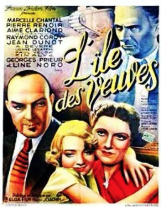 L'Île des veuves - Poster - Belgium