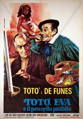 Un coup fumant (Toto à Madrid) - Poster Italie