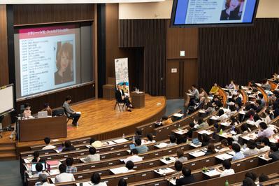 23 de junio, 3.er día del Festival - Masterclass Nathalie Baye à l'université de Waseda