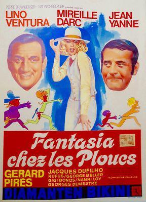 Fantasia chez les ploucs - Poster Belgique