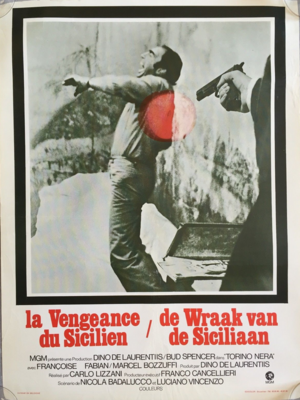 La Vengeance du Sicilien - Poster - Belgium