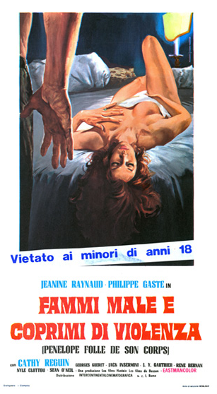 Pénélope, folle de son corps - Poster Italie