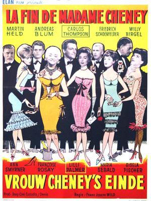 La Mystérieuse Madame Cheney - Poster Belgique