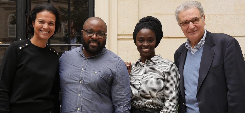 Aïssa Maïga et Sébastien Onomo présidents du groupe francophone d'UniFrance - © Simon Helloco/UniFrance