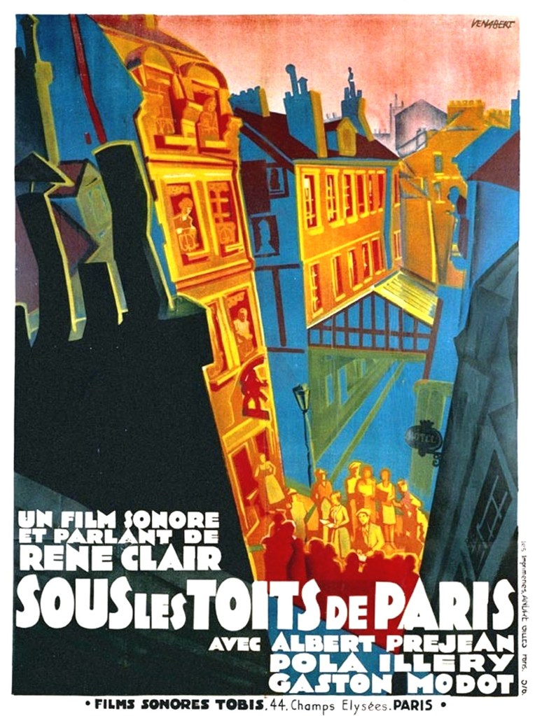 Under the Roofs of Paris - Poster France