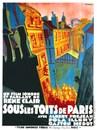 Bajo los techos de París - Poster France