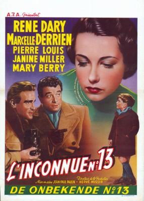 L'Inconnue N°13 - Poster Belgique