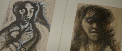 Parce que j'étais peintre - © Yehuda Bacon,Deux autoportraits de Yehuda Bacon faits au retour, Prague – 1945. Jour2Fête