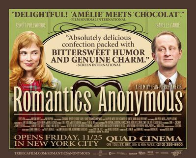 Romantics Anonymous - Poster - USA - © Tribeca Films