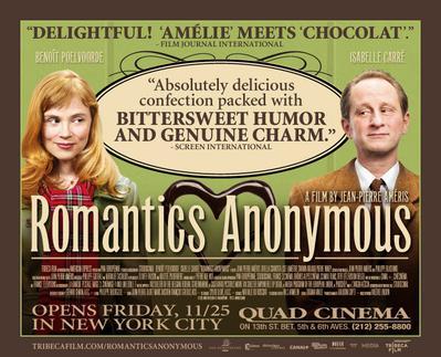 Romantics Anonymous - Poster - USA - © Tribeca Films