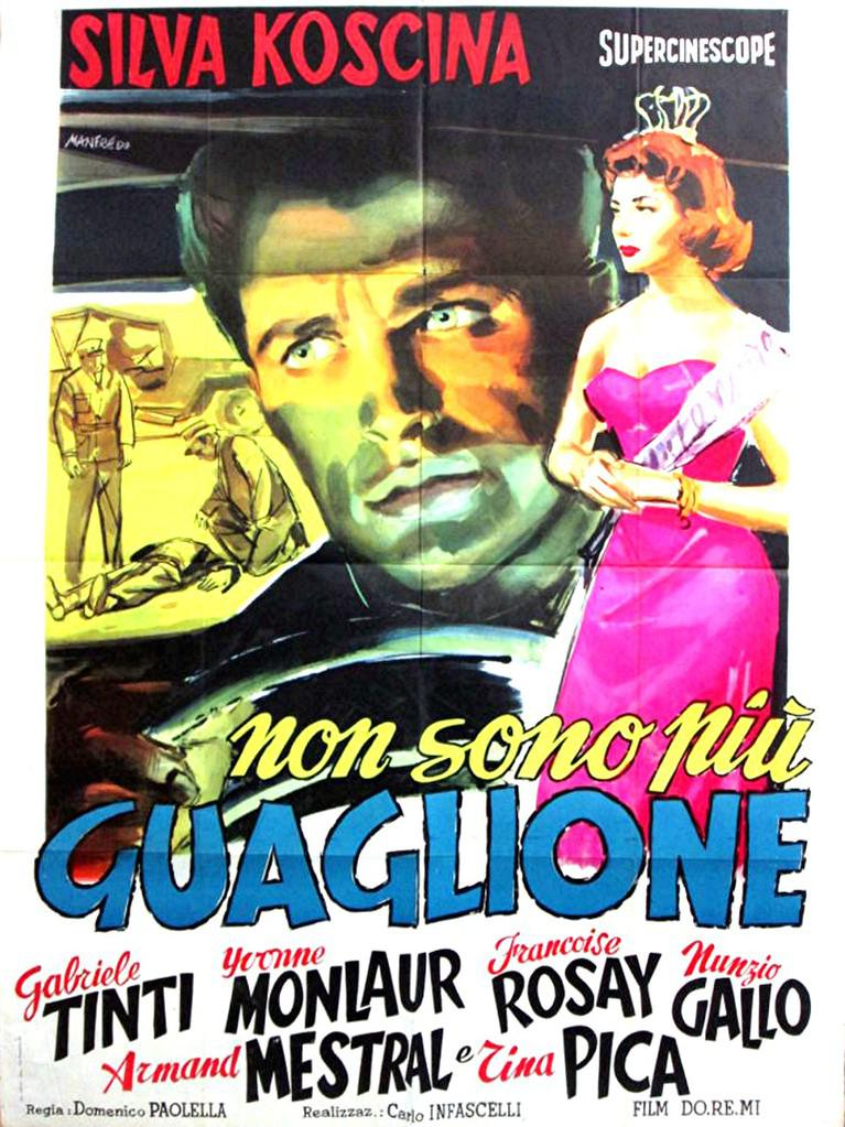 Carlo Delle Piane - Poster Italie