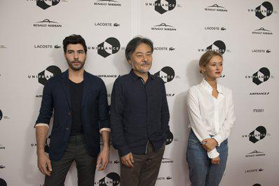 Toronto 2016 : bilan de la 41e édition pour le cinéma français - Tahar Rahim, Kiyoshi Kurosawa et Constance Rousseau pour Le Mystère de la Chambre noire - © UniFrance