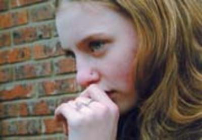 Des larmes dans ses yeux