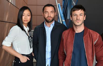 Portfolio Festival de Cannes 2018 - Lang Khê Tran, Guillaume Gouix et Gaspard Ulliel pour 'Les Confins du monde' - © Veeren/BestImage/UniFrance