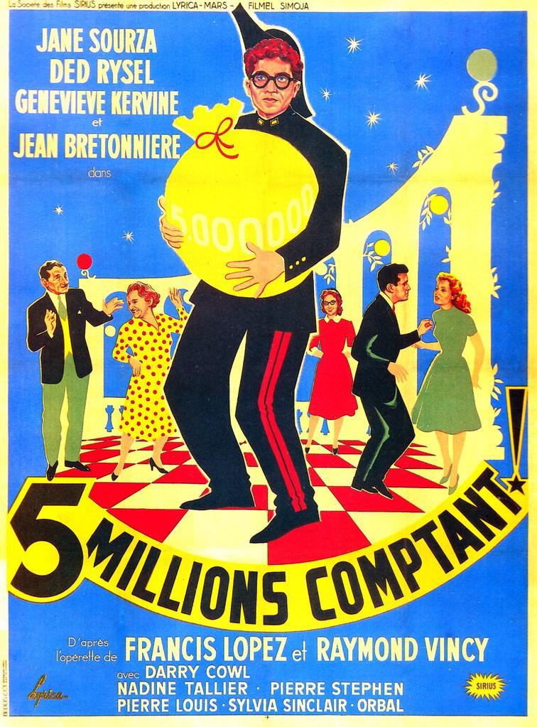 Cinq millions comptant