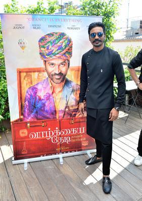2018 Cannes Film Festival Portfolio - Le comédien Dhanush ('L'Extraordinaire Voyage du fakir') présent pour l'India Day d'UniFrance - © Veeren/BestImage/UniFrance