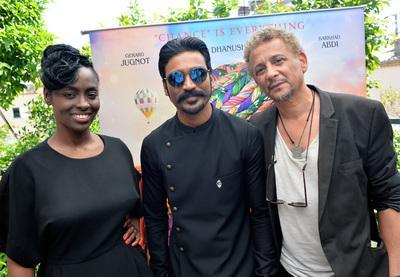2018 Cannes Film Festival Portfolio - Aïssa Maïga, Dhanush et Abel Jafri pour le India Day UniFrance - © Veeren/BestImage/UniFrance
