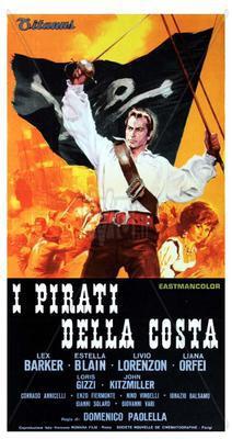 Les Pirates de la côte - Poster Italie