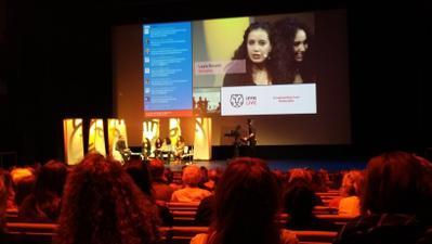 Les Ogres récompensé au Festival de Rotterdam - Leila Bouzid pendant le Live Talk